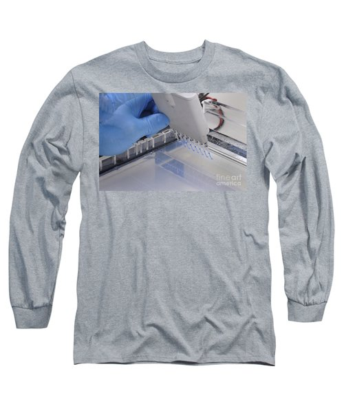 Dna Samples Loaded Onto A Gel Long Sleeve T-Shirt