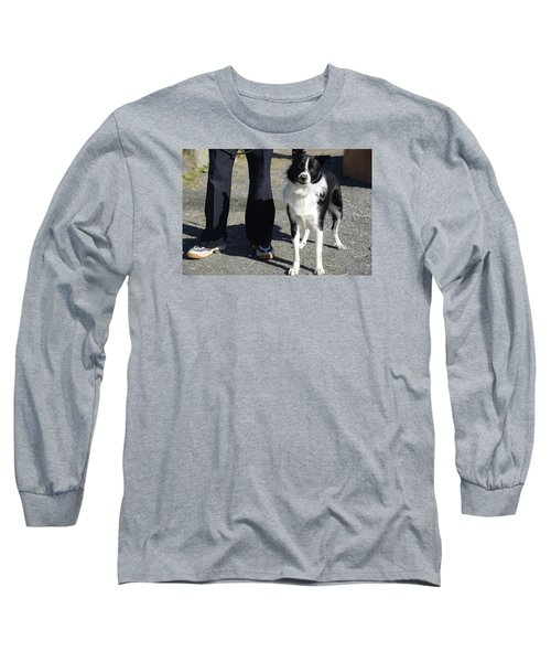 Long Sleeve T-Shirt featuring the photograph Dog And True Friendship 9 by Teo SITCHET-KANDA