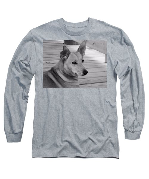 Dog In Black And White One Long Sleeve T-Shirt