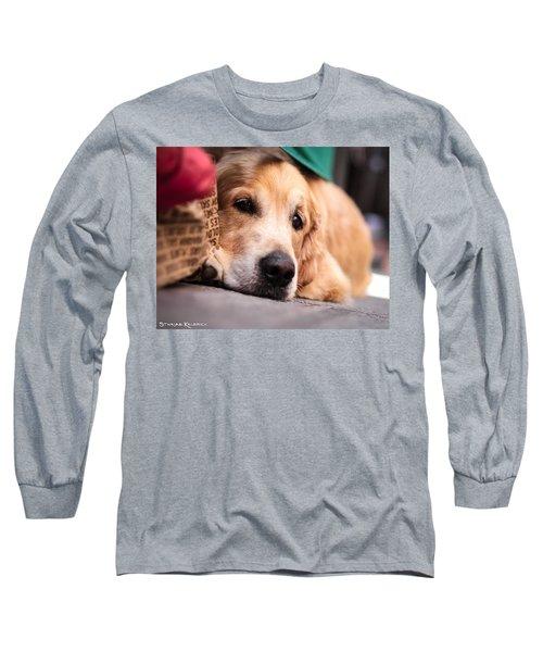 Long Sleeve T-Shirt featuring the photograph Dog's Sorrow by Stwayne Keubrick