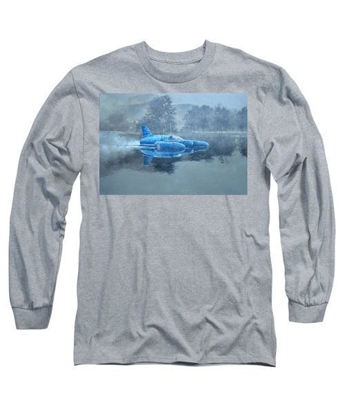 Donald Campbell And Bluebird Oil On Canvas Long Sleeve T-Shirt