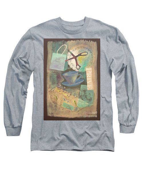 Long Sleeve T-Shirt featuring the painting Don't Be Blue by Mini Arora
