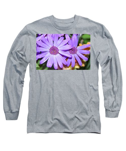 Double Purple Long Sleeve T-Shirt