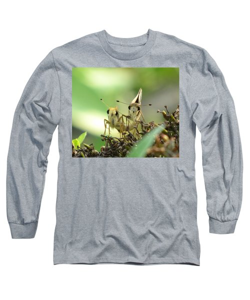 Long Sleeve T-Shirt featuring the photograph Double Trouble by Jennifer Wheatley Wolf