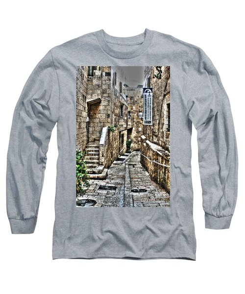 Long Sleeve T-Shirt featuring the photograph Downtown In Jerusalems Old City by Doc Braham