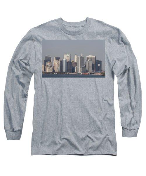 Downtown Manhattan Shot From The Staten Island Ferry Long Sleeve T-Shirt by John Telfer