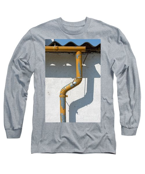 Drainpipe White Structured Wall  Long Sleeve T-Shirt