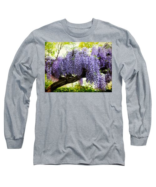 Draping Wisteria Long Sleeve T-Shirt