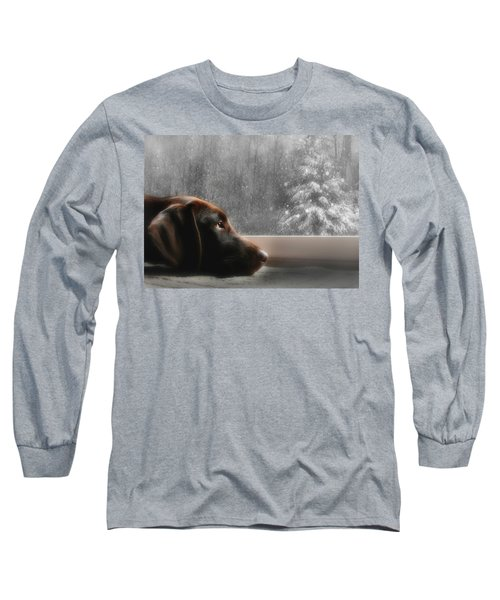 Dreamin' Of A White Christmas Long Sleeve T-Shirt by Lori Deiter