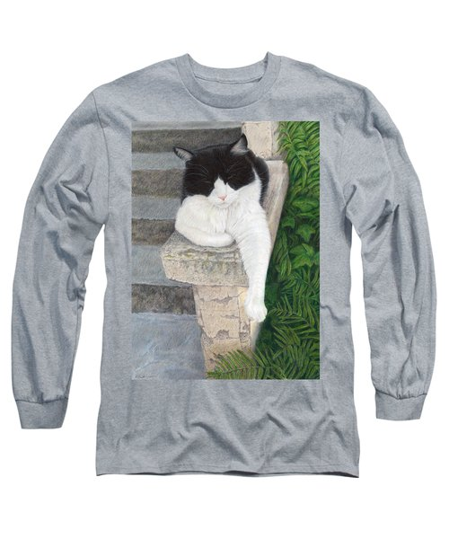 Long Sleeve T-Shirt featuring the painting Dreaming Of Stone Lions by Pat Erickson