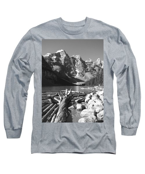Driftwood - Black And White Long Sleeve T-Shirt