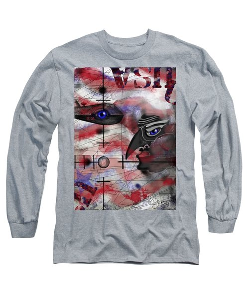 Long Sleeve T-Shirt featuring the painting Drone by Carol Jacobs