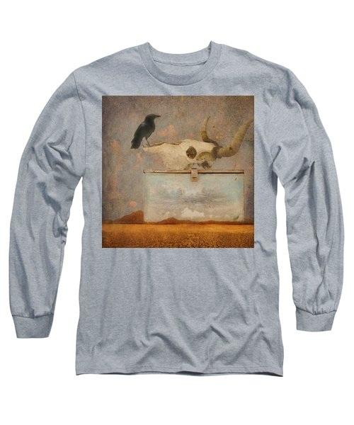 Drought And The Illusion Of Water Long Sleeve T-Shirt by Jeff Burgess