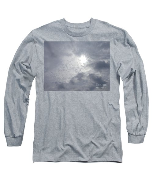 Duck In Beautiful Sky Long Sleeve T-Shirt by Christina Verdgeline