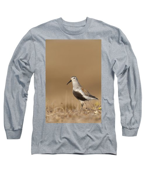 Dunlin Standing On Tundra Of Arctic Long Sleeve T-Shirt