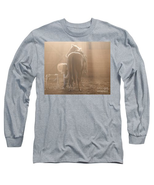 Dusty Morning Pedicure Long Sleeve T-Shirt by Carol Lynn Coronios