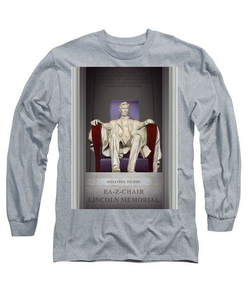 Ea-z-chair Lincoln Memorial 2 Long Sleeve T-Shirt by Mike McGlothlen