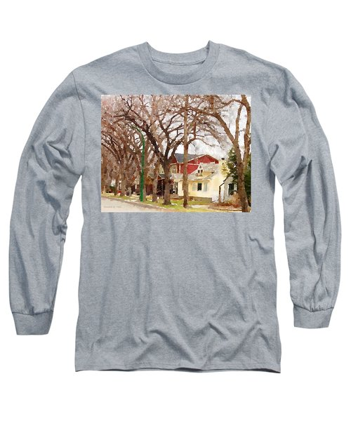 Early Spring Street Long Sleeve T-Shirt by Donald S Hall