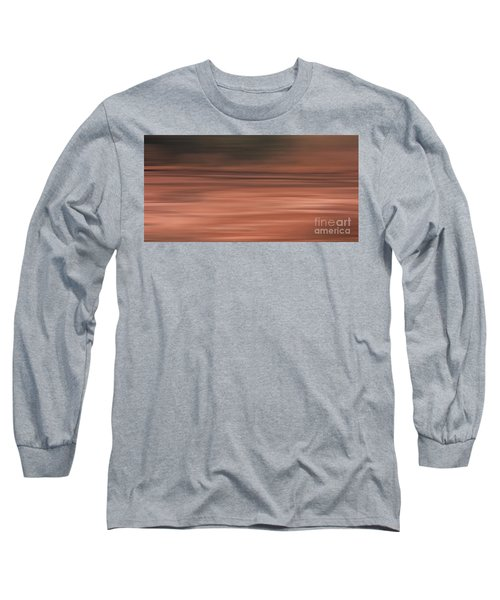 Long Sleeve T-Shirt featuring the digital art Abstract Earth Motion Soil by Linsey Williams