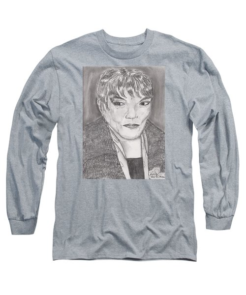 Eartha Kitt Long Sleeve T-Shirt by David Jackson