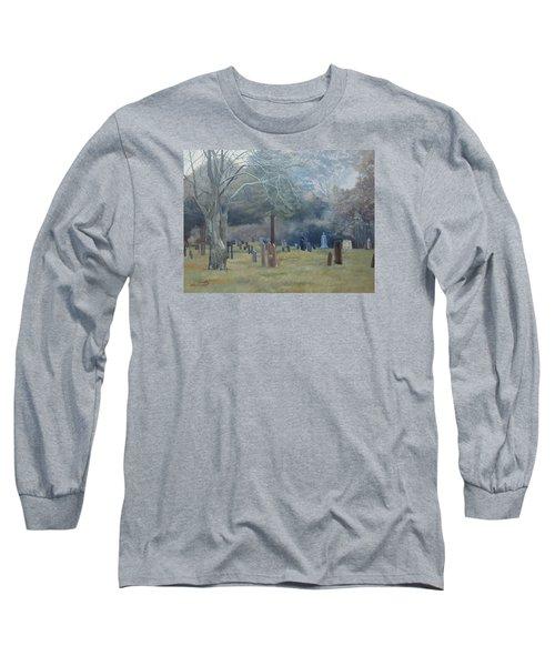East End Cemetery Amagansett Long Sleeve T-Shirt by Barbara Barber