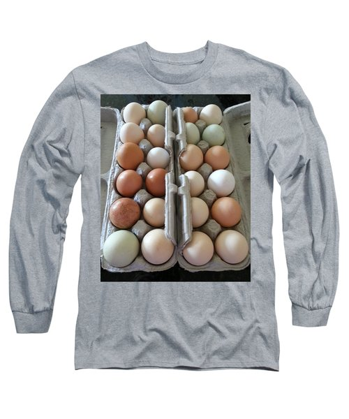 Long Sleeve T-Shirt featuring the photograph Easter Eggs Au Naturel by Caryl J Bohn