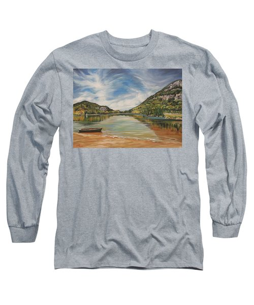 Echo Lake In Franconia Notch New Hampshire Long Sleeve T-Shirt