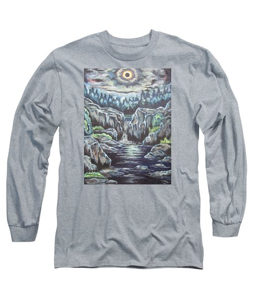 Long Sleeve T-Shirt featuring the painting Eclipse 2 by Cheryl Pettigrew