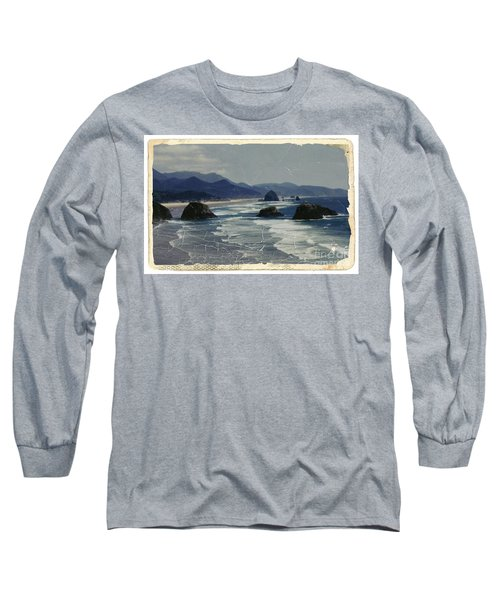 Ecola Sea Stacks Long Sleeve T-Shirt by Chalet Roome-Rigdon