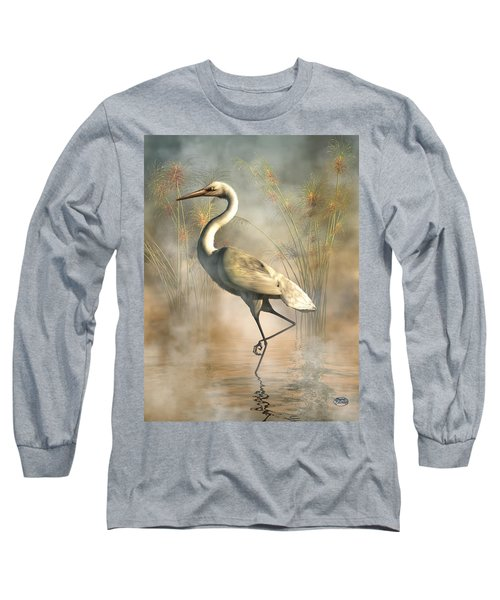 Egret Long Sleeve T-Shirt