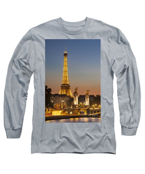 Eiffel At Twilight Long Sleeve T-Shirt