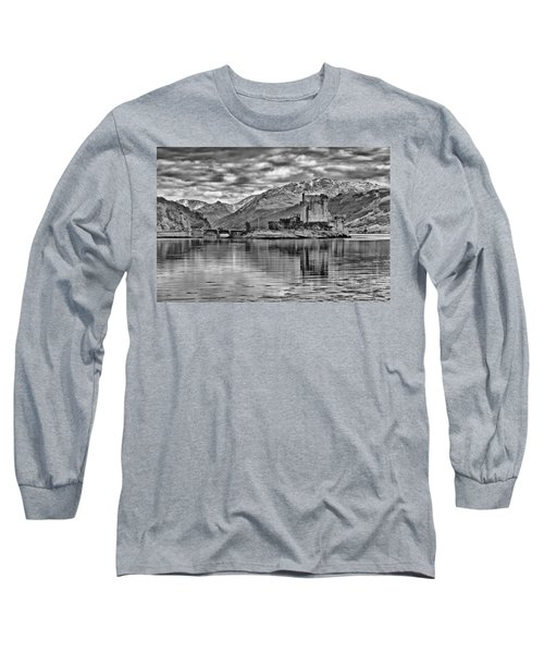 Eilean Donan - A Reflection Without Colour Long Sleeve T-Shirt
