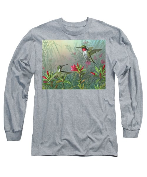Long Sleeve T-Shirt featuring the painting Elegance  by Mike Brown