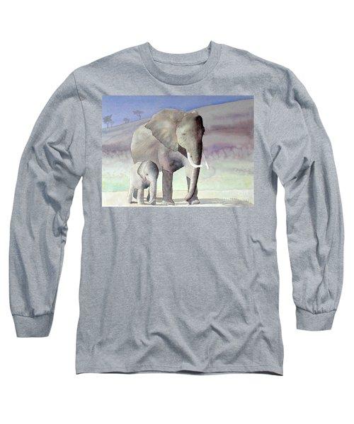 Elephant Family Long Sleeve T-Shirt