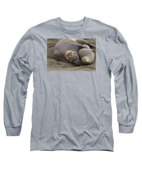 Elephant Seal Couple Long Sleeve T-Shirt