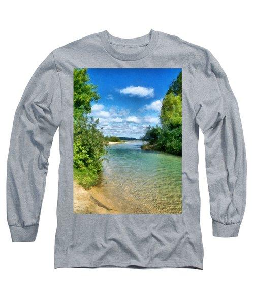 Elk River- Elk Rapids Michigan Long Sleeve T-Shirt