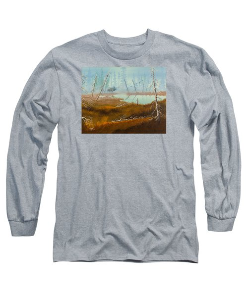 Long Sleeve T-Shirt featuring the painting Elk Swamp by Richard Faulkner