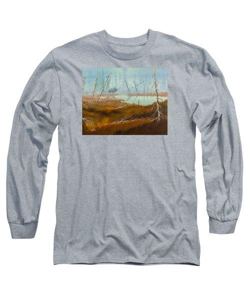 Elk Swamp Long Sleeve T-Shirt by Richard Faulkner