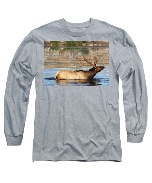 Elk Cooling Down In Lake Long Sleeve T-Shirt