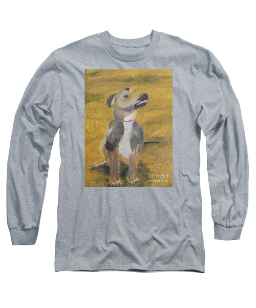 Long Sleeve T-Shirt featuring the painting Ella by Pamela  Meredith