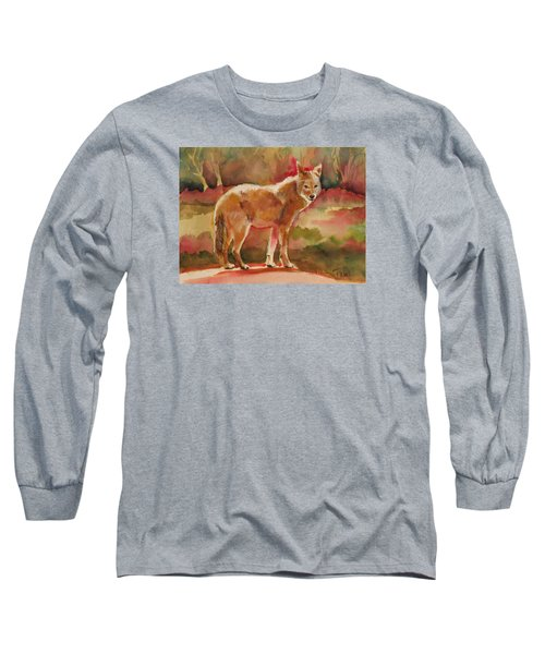 Elusive Visitor Long Sleeve T-Shirt by Pattie Wall