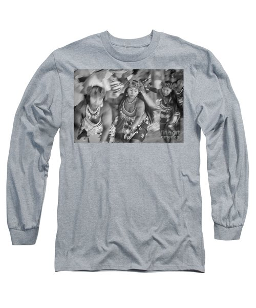 Embera Villagers In Panama As Black And White Long Sleeve T-Shirt