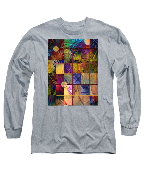 Long Sleeve T-Shirt featuring the painting Emotive Tapestry by Allison Ashton