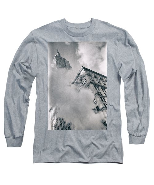 Empire State Building And Steam Long Sleeve T-Shirt