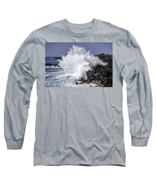 End Of The World Explosion Long Sleeve T-Shirt by Denise Bird