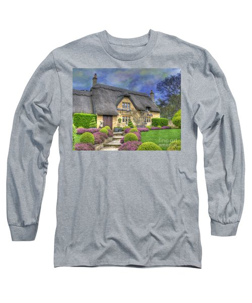 English Country Cottage Long Sleeve T-Shirt by Juli Scalzi