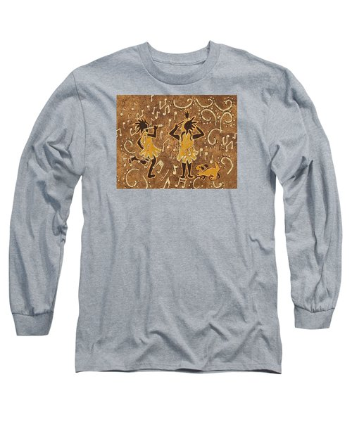 Enjoying The Music Long Sleeve T-Shirt by Katherine Young-Beck