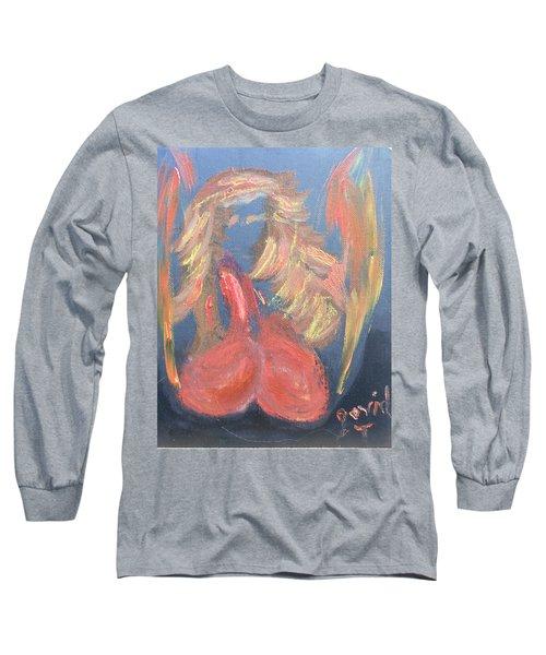 Eros Angel Long Sleeve T-Shirt by David Trotter