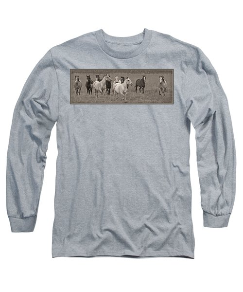 Escapees From A Lineup Long Sleeve T-Shirt by Wes and Dotty Weber