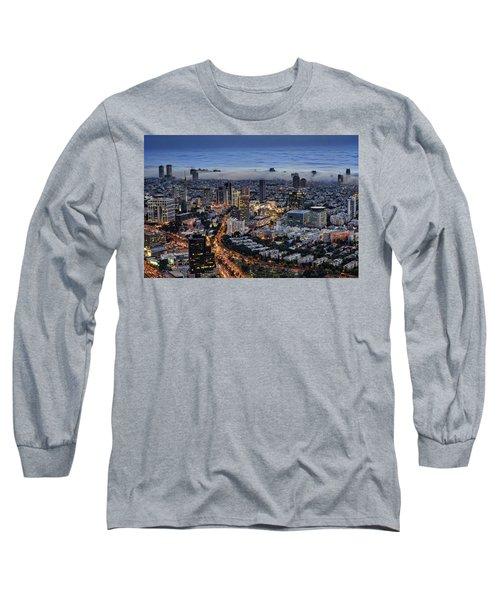 Evening City Lights Long Sleeve T-Shirt